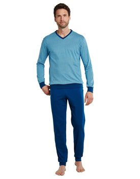 Schiesser Pyjama 171964 heren lichtblauw