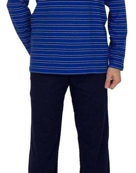 Schiesser heren pyjama 168821 lang royal blauw