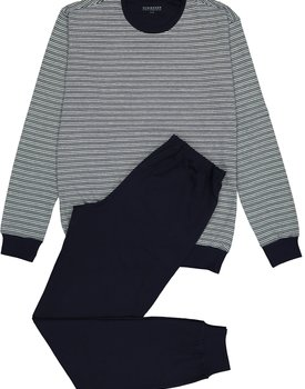 Schiesser heren Pyjama 171090 donkerblauw