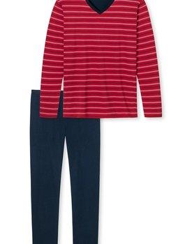 Schiesser heren Pyjama 171087 rood