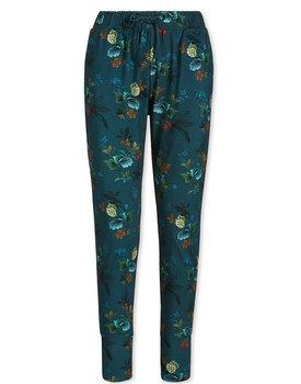 Bobien long Trousers Leafy Stitch Small Blue