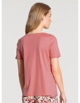 Calida dames pyjamatop kort 14038 rosy glow