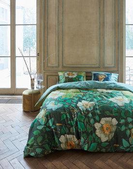 Beddinghouse x Van Gogh dekbedovertrek Wild roses zeegroen