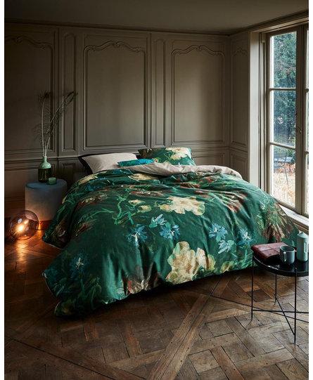 Beddinghouse x Van Gogh dekbedovertrek Peonies zeegroen
