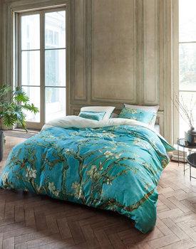 Beddinghouse x Van Gogh dekbedovertrek Almond Blossom blauw
