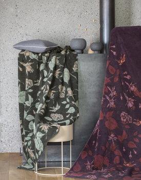 David Fussenegger plaid SAVONA floral viola 150x200