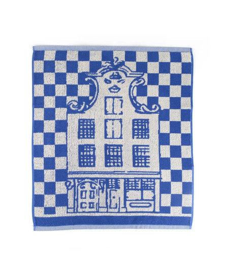 Bunzlau Castle keukendoek Canal houses royal blue