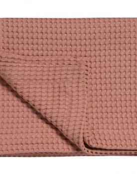 Vandyck Pique wafel deken Brick Dust 270x250
