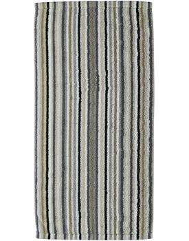 Cawo Lifestyle Streifen Handdoek 7048 Kiezelsteen-37 50x100