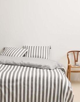 Marc O'Polo Classic Stripe Kussensloop Grey 60x70