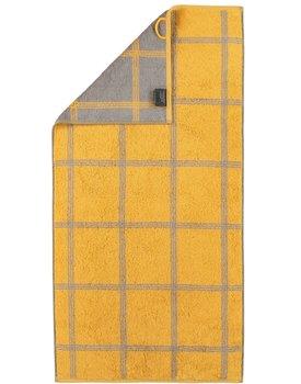 Cawo Two-Tone Grafik Handdoek  Curry 50x100