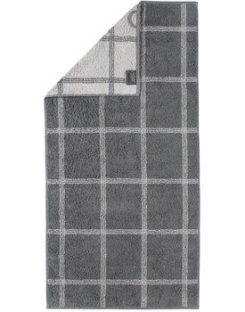 Cawo Two-Tone Grafik Handdoek  Graphit 50x100
