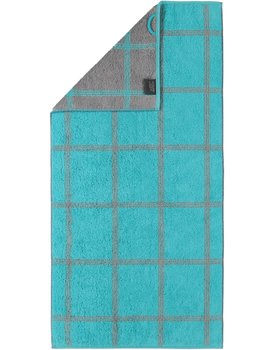 Cawo Two-Tone Grafik Handdoek  Turkis 50x100