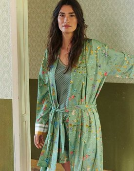 Pip Studio Nisha Kimono Petites Fleurs Green L