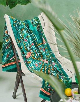 Pip Studio strandlaken Sunrise Palms 100x180 green
