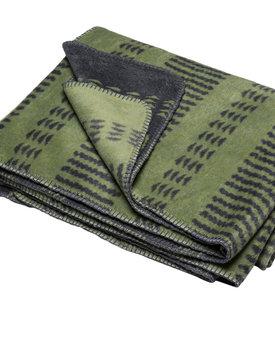 David Fussenegger plaid Bamboo small pattern bordure 150x200 kiwi