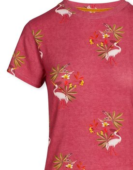 Pip Studio Tanja Short Sleeve My Heron Pink M