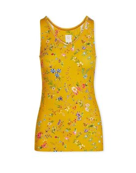 Pip Studio Tessy Sleeveless Top Petites Fleurs Yellow L