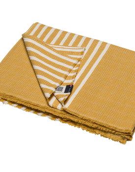 David Fussenegger plaid Mare solid with stripes 140x200 mustard