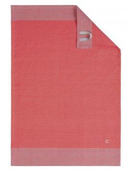 Cawö theedoek Two-tone 50x70 rood