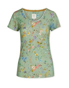 Pip Studio Tilly Short Sleeve Petites Fleurs Green L