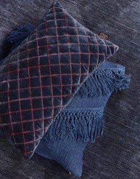 Kaat Amsterdam sierkussen Equire blue 30x50