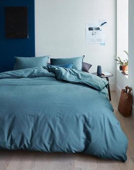 Beddinghouse Organic Basic Dekbedovertrek - Blauw Grijs 140x200/220