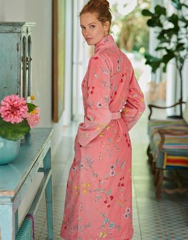 Pip Studio Les Fleurs Bathrobe Pink XS