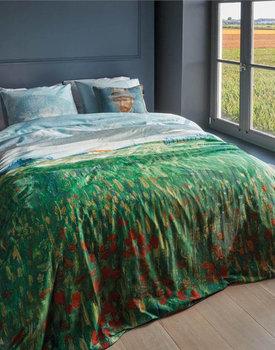 Beddinghouse x Van Gogh Museum Field With Poppies Dekbedovertrek - Groen 200x200/220