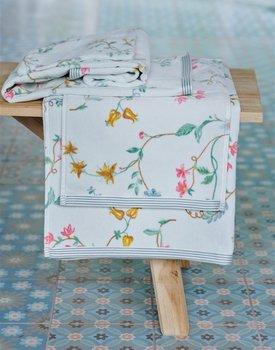 Pip Studio Les Fleurs White 70x140