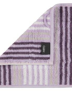 Cawö Noblesse Seasons Gezichtdoekje Streifen - lavendel - 30x30