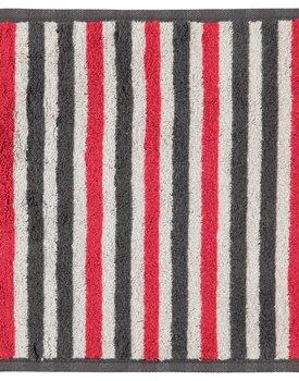 Cawö Tape Streifen Gezichtsdoekje anthrazit-rot