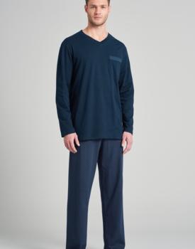 Schiesser heren pyjama 175677 royal blue