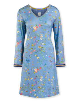 Pip Studio Dana Night Dress Petites Fleurs Big Light Blue L