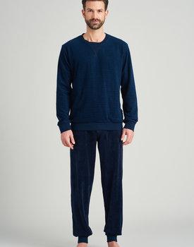 Schiesser heren pyjama lang 175604 nightblue