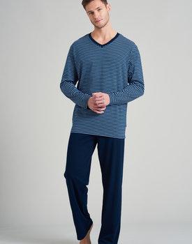 Schiesser heren pyjama lang 175686 nightblue