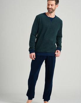 Schiesser heren pyjama lang 175604 dark green