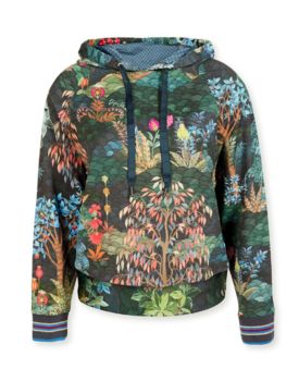 Pip Studio Tamara Hooded Sweater Pip Garden Big Blue L