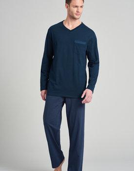 Schiesser heren pyjama 175677 lang royal blue