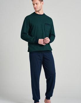 Schiesser heren pyjama lang 175675 green