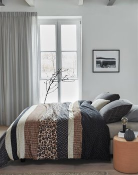 Beddinghouse Gino Dekbedovertrek  Grijs 240 x 200/220 cm + 2x 60 x 70 cm