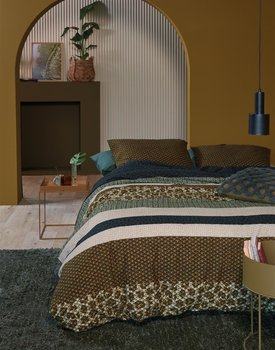 Beddinghouse Gino Dekbedovertrek  Groen 200 x 200/220 cm + 2x 60 x 70 cm