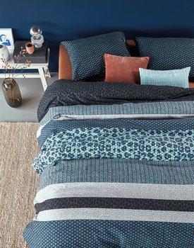 Beddinghouse Gino Dekbedovertrek  Blauw 240 x 200/220 cm + 2x 60 x 70 cm