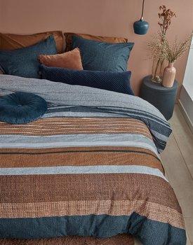 Beddinghouse Lex Dekbedovertrek  Blauw 140 x 200/220 cm + 1x 60 x 70 cm