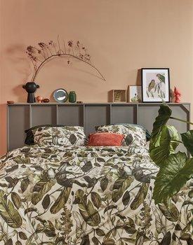 At Home by BeddingHouse All Leaves Dekbedovertrek  Groen 240 x 200/220 cm