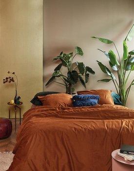 At Home by BeddingHouse Cosy Corduroy Dekbedovertrek  Terra 200 x 200/220 cm