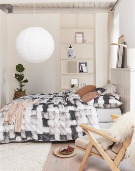 Ariadne at Home Comfort Dekbedovertrek  Zwart Wit 200 x 200/220 cm