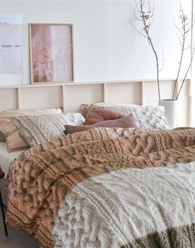 Ariadne at Home Snug Dekbedovertrek  Bruin 140 x 200/220 cm