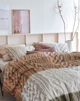 Ariadne at Home Snug Dekbedovertrek  Bruin 200 x 200/220 cm
