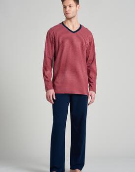 Schiesser heren pyjama lang 175686 red